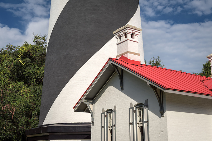 The historic St. Augustine lighthouse on Anastasia Island.