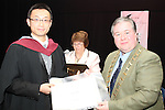 Mayor Paul Bell with Jun Liu who graduated from Business Studies at the DIFE Graduation in The Barbican...Picture Jenny Matthews/Newsfile.ie