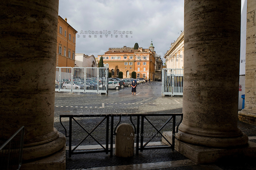 A swiss guard at the Vatican.