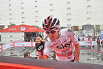 Polish National Champion Michal Kwiatkowski (POL) Team Sky signs on before the start of Stage 6 of the 2019 UAE Tour, running 175km form Ajman to Jebel Jais, Dubai, United Arab Emirates. 1st March 2019.<br /> Picture: LaPresse/Massimo Paolone | Cyclefile<br /> <br /> <br /> All photos usage must carry mandatory copyright credit (© Cyclefile | LaPresse/Massimo Paolone)