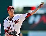 4 March 2012: Washington Nationals pitcher Tom Gorzelanny on the mound against the Houston Astros at Space Coast Stadium in Viera, Florida. The Astros defeated the Nationals 10-2 in Grapefruit League action. Mandatory Credit: Ed Wolfstein Photo