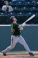 Josh Lundy #30 of the Baylor Bears bats against the UCLA Bruins at Jackie Robinson Stadium on February 25, 2012 in Los Angeles,California. UCLA defeated Baylor 9-3.(Larry Goren/Four Seam Images)