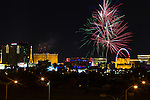 Las Vegas celebrates Independence Day with fireworks display at the Linq