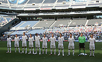 US Starting Eleven line up for the National Anthem. USA defeated Grenada 4-0 during the First Round of the 2009 CONCACAF Gold Cup at Qwest Field in Seattle, Washington on July 4, 2009.