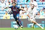 Real Madrid's Daniel Carvajal (r) and Levante UD's Jose Luis Morales during La Liga match. September 14,2019. (ALTERPHOTOS/Acero)