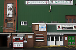 Glentoran 2 Cliftonville 1, 22/10/2016. The Oval, NIFL Premiership. The half-time draw hut outside the main stand at The Oval, Belfast, pictured before Glentoran hosted city-rivals Cliftonville in an NIFL Premiership match. Glentoran, formed in 1892, have been based at The Oval since their formation and are historically one of Northern Ireland's 'big two' football clubs. They had an unprecendentally bad start to the 2016-17 league campaign, but came from behind to win this fixture 2-1, watched by a crowd of 1872. Photo by Colin McPherson.