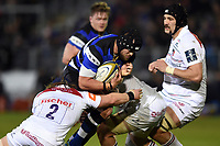 Michael van Vuuren of Bath Rugby takes on the Leicester Tigers defence. Anglo-Welsh Cup match, between Bath Rugby and Leicester Tigers on November 10, 2017 at the Recreation Ground in Bath, England. Photo by: Patrick Khachfe / Onside Images
