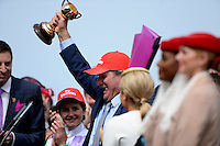 Winning trainer of PRINCE OF PENZANCE, Darren Weir<br /> VRC Spring Racing Carnival <br /> 155th Melbourne Cup / Race 7<br /> Flemington Racecourse / Melbourne <br /> Australia  Tuesday3rd November 2015<br /> &copy; Sport the library / Jeff Crow