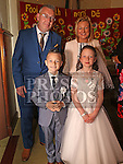 Jake Rooney Who received first holy communion in St Cianan's church Duleek with his sister Lauren and parents Alan and Sharon.<br /> Photo-Jenny Matthews