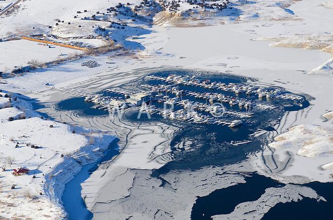 Lake Pueblo north shore Marina.  Feb 2014. 70622