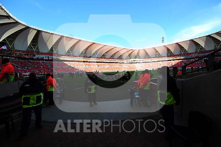 General view of the Nelson Mandela Stadium during the 2010 World Cup Soccer match between England and Slovenia played at the Nelson Mandela Stadium in Port Elizabeth South Africa on 23 June 2010.  Photo: Gerhard Steenkamp/Cleva Media