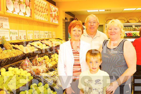 Teresa Clifford, John Clifford, Ian Connell and Eileen Collett shopping in Dan Horan's on Thursday.
