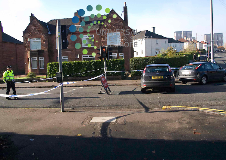 A 20-year-old man was stabbed repeatedly in a &quot;violent and premeditated attack&quot; in Glasgow in the early hours.<br /> Police said the man was walking along Queen Victoria Drive in Scotstoun with two friends at about 0550 GMT when a car pulled up alongside them.Two men got out of the car and chased the three friends. The victim was stabbed repeatedly about the body. His condition was said to be &quot;extremely serious&quot;. His two friends - one male and one female - were not injured. Picture:Wullie Marr/ Universal News And Sport (Scotland) 31.October 2010..