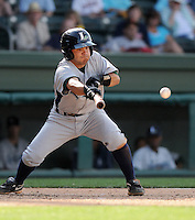 Infielder Jose Altuve (2) of the Lexington Legends, Class A affiliate of the Houston Astros in a game on April 25, 2010, at Fluor Field at the West End in Greenville, S.C. He was named to the 2010 South Atlantic League All-Star team. Photo by: Tom Priddy/Four Seam Images