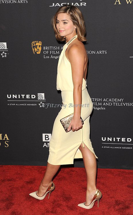 Jenna Coleman attending the 2014 BAFTA Los Angeles Jaguar Britannia Awards Presented BY BBC America, held at The Beverly Hilton Hotel Beverly Hills, CA. October 30, 2014.