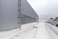 Yale-New Haven Health Park Avenue Medical Center. Architect: Shepley Bulfinch. Contractor: Gilbane Building Company, Glastonbury, CT. James R Anderson Photography, New Haven CT photog.com. Date of Photograph 4 May 2016  Submission 25  © James R Anderson. Rooftop with HVAC and Mechanical.