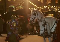 Europe/Autriche/Tyrol/Innsbruck: Fiacre sur le marché de Noël<br /> PHOTO D'ARCHIVES // ARCHIVAL IMAGES<br /> FRANCE 1990