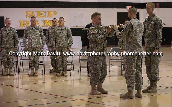 The Deployment Farewell Ceremony for the Iowa National Guard 361st Medical Logistics Company included officially storing the 361st's flag until it is moved to it's new post. The ceremony was held Saturday at the Southeast Polk's Spring Creek Elementary gym. http://tinyurl.com/lfkjfrh