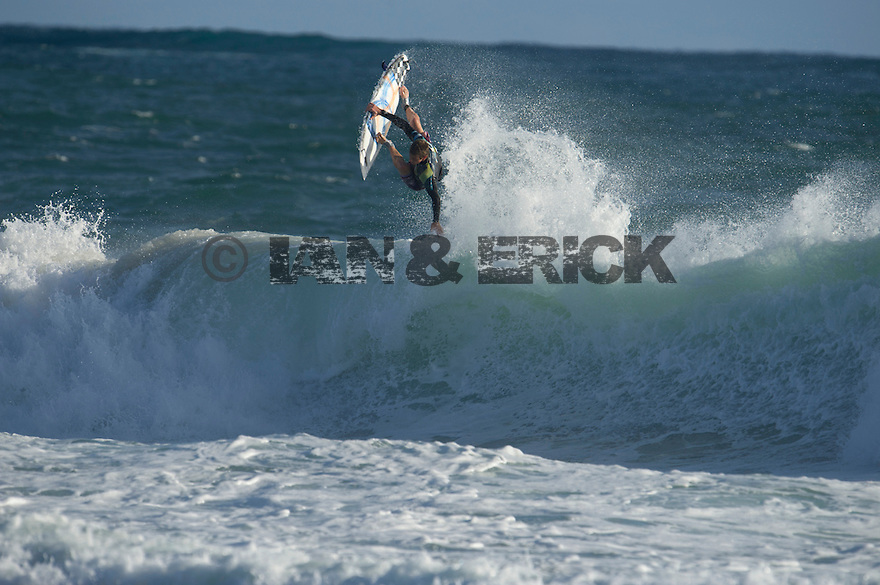 Unknown surfer at Gas Bay near Margaret River in Western Australia.