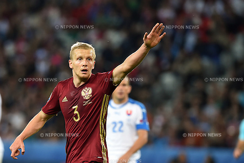 Igor Smolnikov (Russia) ; <br /> June 15, 2016 - Football : Uefa Euro France 2016, Group B, Russia 1-2 Slovakia at Stade Pierre Mauroy, Lille Metropole, France. (Photo by aicfoto/AFLO)