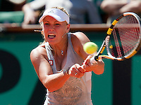 24-05-10, Tennis, France, Paris, Roland Garros, First round match,   Wozniacki