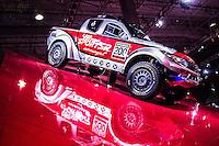 SAO PAULO,SP 09.11.2016 - SALÃO-AUTOMOVEL - Mitsubishi Rally Art apresentado durante Salão internacional do automovel de São Paulo no expo Imigrantes na região sul da cidade de São Paulo  nesta quarta-feira,09. <br /> <br /> (Foto:Fabricio Bomjardim/Brazil Photo Press)
