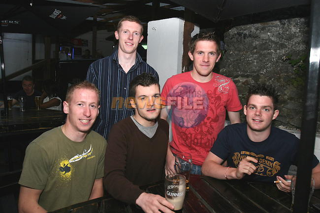 Kevin Healy, Luke McDonnell, Ciaran Nolan, Ryan Dillon and Niall Walshe enjoying a night out in McPhails...Photo NEWSFILE/Jenny Matthews.(Photo credit should read Jenny Matthews/NEWSFILE)....This Picture has been sent you under the condtions enclosed by:.Newsfile Ltd..The Studio,.Millmount Abbey,.Drogheda,.Co Meath..Ireland..Tel: +353(0)41-9871240.Fax: +353(0)41-9871260.GSM: +353(0)86-2500958.email: pictures@newsfile.ie.www.newsfile.ie.FTP: 193.120.102.198.