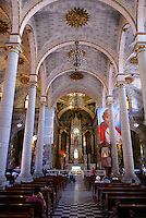 Interior of the Catedral de Inmaculada Concepcion, the nineteenth century cathedral on the main plaza in old Mazatlan, Sinaloa, Mexico