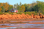 Images of The Canadian Maritime Provinces of Nova Scotia and Prince Edward Island.  Red cliffs of Prince Edward Island.