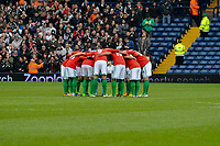 Saturday, 9 March 2013<br /> <br /> Pictured: swans huddle<br /> <br /> Re: Barclays Premier League West Bromich Albion v Swansea City FC  at the Hawthorns, Birmingham, West Midlands