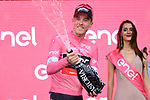 Race leader Rohan Dennis (AUS) BMC Racing Team retains the Maglia Rosa at the end of Stage 3 of the 101st edition of the Giro d'Italia 2018 running 229km flat stage from Be'er Sheva to Eilat is the last in Israel. 6th May 2018.<br /> Picture: LaPresse/Gian Mattia D'Alberto | Cyclefile<br /> <br /> <br /> All photos usage must carry mandatory copyright credit (&copy; Cyclefile | LaPresse/Gian Mattia D'Alberto)