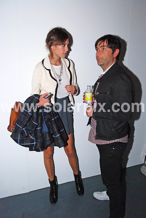 **ALL ROUND PICTURES FROM SOLARPIX.COM** .**WORLDWIDE SYNDICATION RIGHTS** .Celebrities at the Top Shop Unique fashion show at London Fashion Week. .This pic: Model Alexa Chung.JOB REF: 7336 CRD DATE: 14.09,08 .**MUST CREDIT SOLARPIX.COM OR DOUBLE FEE WILL BE CHARGED* *UNDER NO CIRCUMSTANCES IS THIS IMAGE TO BE REPRODUCED FOR ANY ONLINE EDITION WITHOUT PRIOR PERMISSION*