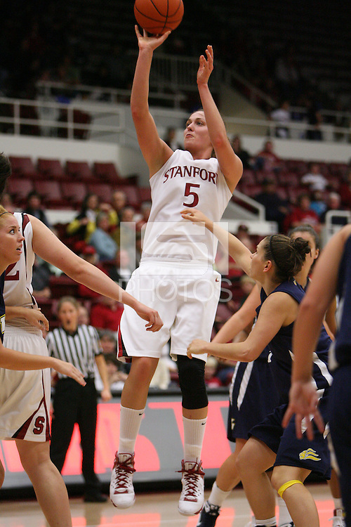 STANFORD, CA - NOVEMBER 7:  Michelle Harrison of the Stanford Cardinal during Stanford's 87-41 win over Vanguard on November 7, 2008 at Maples Pavilion in Stanford, California.