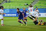 Yuika Sugasawa (JPN), <br /> SEPTEMBER 18, 2014 - Football / Soccer : <br /> Women's Group Stage <br /> between Japan Women's 12-0 Jordan Women's <br /> at Namdong Asiad Rugby Field <br /> during the 2014 Incheon Asian Games in Incheon, South Korea. <br /> (Photo by YUTAKA/AFLO SPORT)