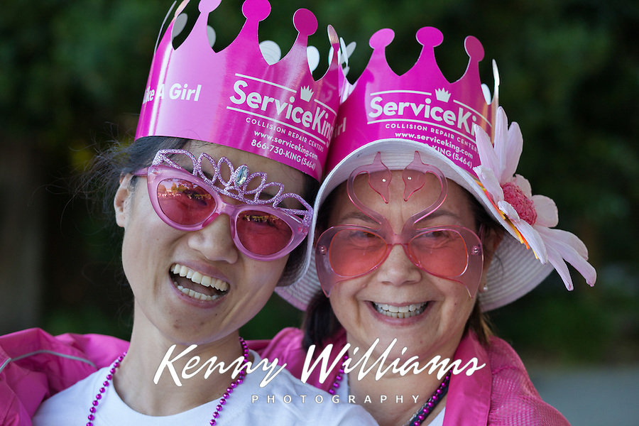 Mother and Daughter, Susan G Komen Race for The Cure, Seattle, WA, USA.