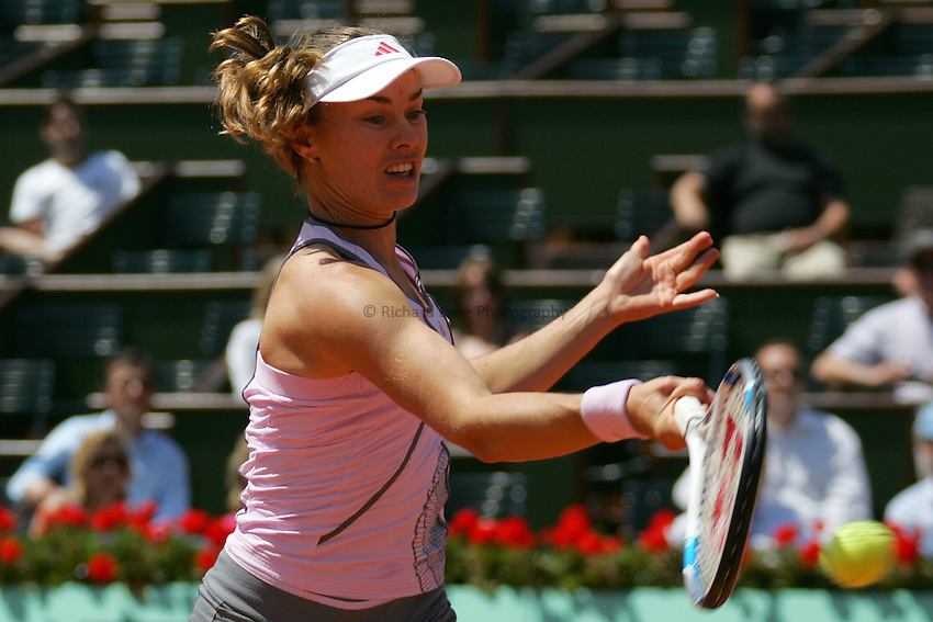 Photo: Iconsport/Richard Lane Photography..Roland Garros 2006..06/06/2006..Martina Hingis.