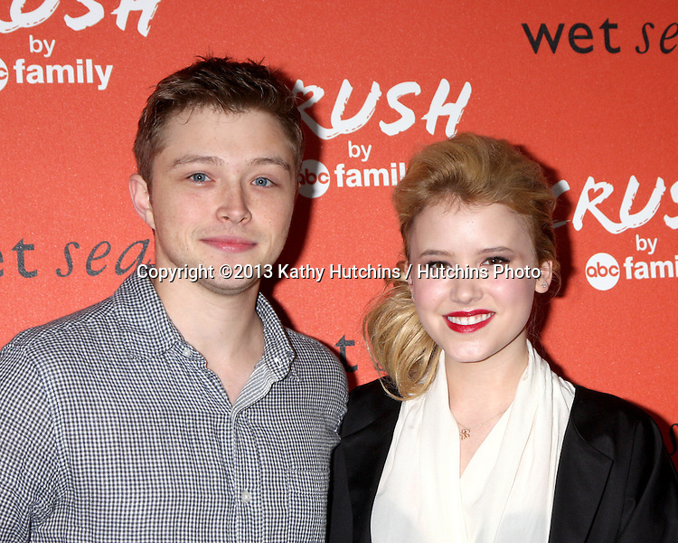 LOS ANGELES - NOV 5:  Sterling Knight, Taylor Spreitler at the CRUSH by ABC Family Clothing Line Launch at London Hotel on November 5, 2013 in West Hollywood, CA