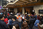 Students attend The Rockefeller Foundation and The Gilder Lehrman Institute of American History sponsored High School student matinee performance of  'Hamilton' at the Richard Rodgers Theatre on 2/8/2017 in New York City.