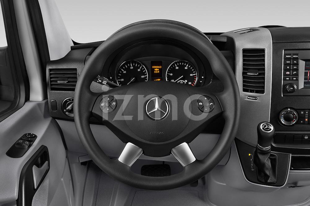 Car pictures of steering wheel view of a 2017 Mercedes Benz Sprinter-Crew-Van 2500-170-WB-High-Roof 4 Door Combi Steering Wheel