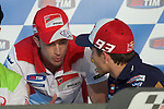 gp mugello (italia)<br /> press conference with the riders<br /> marc marquez<br /> andrea dovizioso