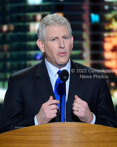 Former United States Representative Robert Wexler (Democrat of Florida), President, S. Daniel Abraham Center for Middle East Peace, makes remarks at the 2012 Democratic National Convention in Charlotte, North Carolina on Tuesday, September 4, 2012.  .Credit: Ron Sachs / CNP.(RESTRICTION: NO New York or New Jersey Newspapers or newspapers within a 75 mile radius of New York City)