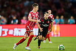 Bayern Munich Defender Marco Friedl (L) plays against AC Milan Midfielder Jose Mauri (R) during the 2017 International Champions Cup China match between FC Bayern and AC Milan at Universiade Sports Centre Stadium on July 22, 2017 in Shenzhen, China. Photo by Marcio Rodrigo Machado/Power Sport Images
