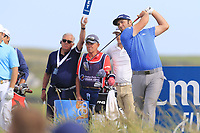 Jon Rahm (ESP) tees off the 15th tee during Thursday's Round 1 of the Dubai Duty Free Irish Open 2019, held at Lahinch Golf Club, Lahinch, Ireland. 4th July 2019.<br /> Picture: Eoin Clarke | Golffile<br /> <br /> <br /> All photos usage must carry mandatory copyright credit (© Golffile | Eoin Clarke)