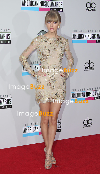 Taylor Swift, The 40th American Music Awards arrivals at the Nokia Theatre L.A. Live. Los Angeles, November 18, 2012.