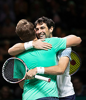 Rotterdam, The Netherlands, 17 Februari 2019, ABNAMRO World Tennis Tournament, Ahoy, Final, Doubles, Jeremy Chardy (FRA) / Henri Kontinen (FIN) winners,<br /> Photo: www.tennisimages.com/Henk Koster