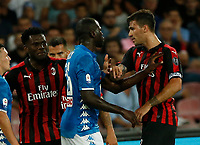 Kalidou Koulibaly  during the  italian serie a soccer match,  SSC Napoli - Milan      at  the San  Paolo   stadium in Naples  Italy , August 25, 2018