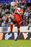 Brock Granger (17) of the Louisville Cardinals. The Louisville Cardinals defeated the Notre Dame Fighting Irish 1-0 during the semi-finals of the Big East Men's Soccer Championship at Red Bull Arena in Harrison, NJ, on November 12, 2010.