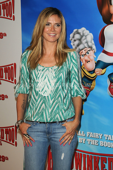 WWW.ACEPIXS.COM . . . . . ....April 16 2011, Los Angeles....Model Heidi Klum arriving at the 'HOODWINKED TOO! HOOD vs EVIL' Premiere Hosted by Heidi Klum, Maurice Kanbar and Harvey Weinstein at the Pacific Theaters at The Grove on April 16, 2011 in Los Angeles, CA....Please byline: PETER WEST - ACEPIXS.COM....Ace Pictures, Inc:  ..(212) 243-8787 or (646) 679 0430..e-mail: picturedesk@acepixs.com..web: http://www.acepixs.com