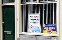 Nederland  Hoorn 2016. Winkelruimte verhuurd. Foto Berlinda van Dam / Hollandse Hoogte