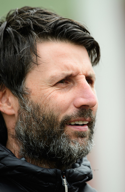 Lincoln City manager Danny Cowley during the pre-match warm-up<br /> <br /> Photographer Chris Vaughan/CameraSport<br /> <br /> The EFL Sky Bet League Two - Lincoln City v Grimsby Town - Saturday 19 January 2019 - Sincil Bank - Lincoln<br /> <br /> World Copyright &copy; 2019 CameraSport. All rights reserved. 43 Linden Ave. Countesthorpe. Leicester. England. LE8 5PG - Tel: +44 (0) 116 277 4147 - admin@camerasport.com - www.camerasport.com